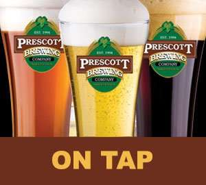 Beers on tap at Prescott Brewing Company